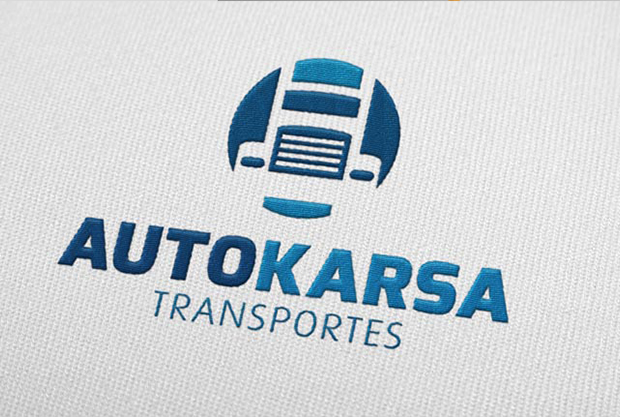 Autokarsa, logotipo, bordado, uniformes